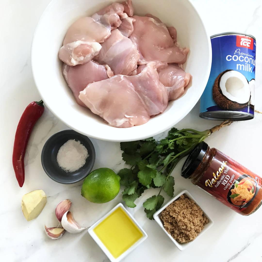 Grilled Thai Flavoured Coconut Chicken Thigh Fillets Ingredients