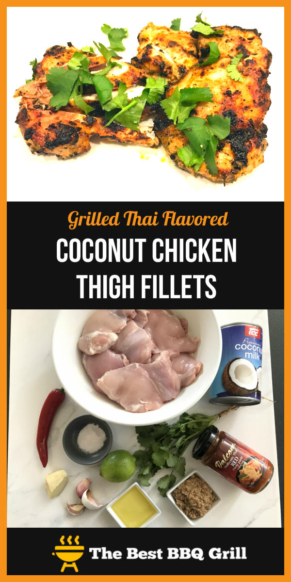 Grilled Thai Flavoured Coconut Chicken Thigh Fillets pin2