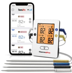 Wireless meat thermometer with 4 probes
